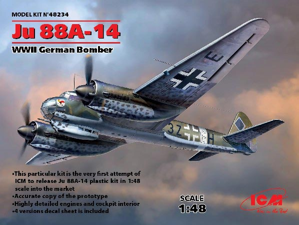 WWII German Ju88A14 Bomber