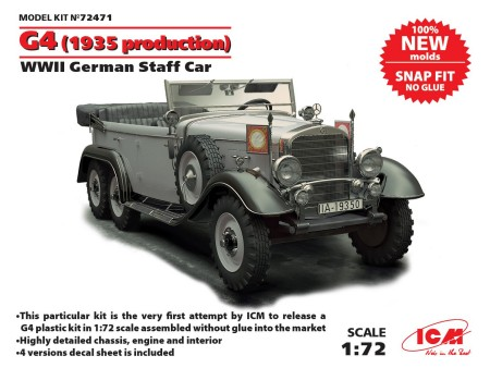 WWII German G4 1935 Production Staff Car (Snap) (New Tool)