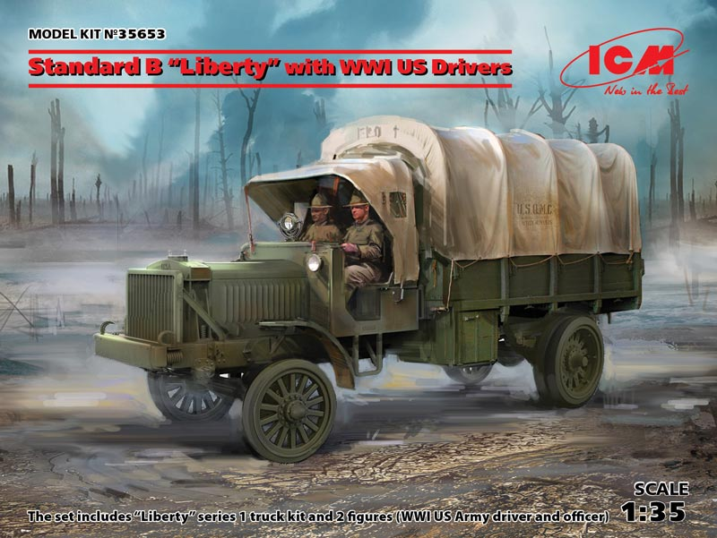 Standard B Liberty Truck with WWI US Drivers
