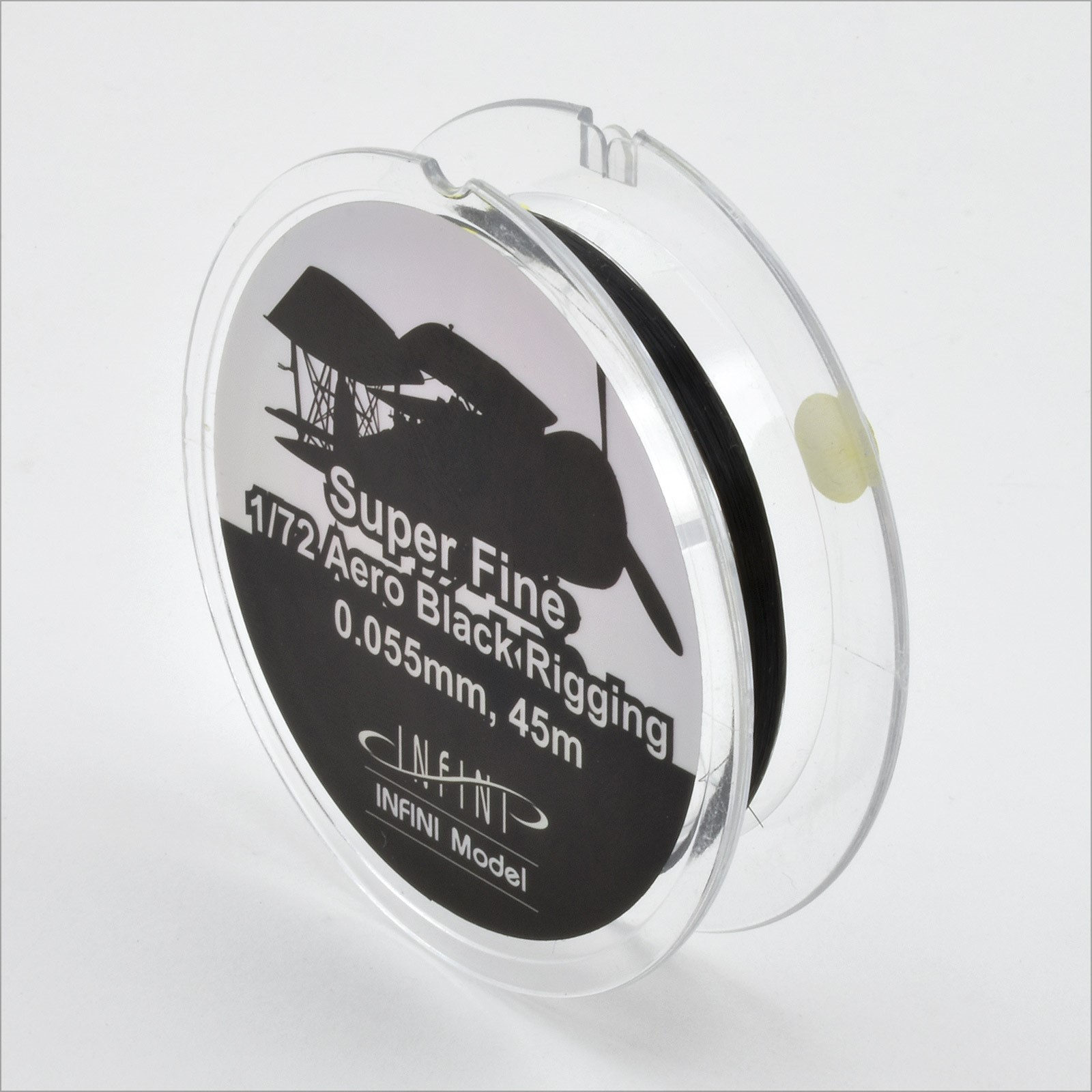 Black Aero Rigging Wire Super Fine 0.055mm (1/72) 145ft
