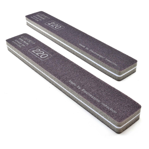 Premium Ultra-Precision Softback Sanding Stick Coarse 220 Grit, 2-Pack