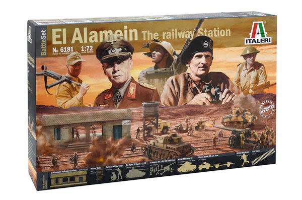 Diorama Set: El Alamein The Railway Station Battle