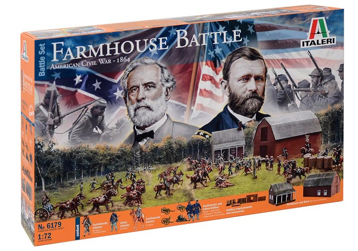 Diorama Set: Farmhouse Battle American Civil War 1864