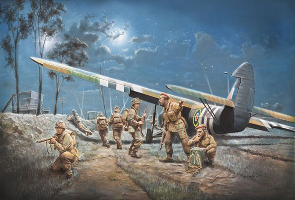 AS51 Horsa Mk I Aircraft w/13 British Paratroopers D-Day