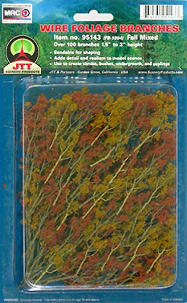 Wire Foliage Branches Fall Mixed, (60 per pkg)