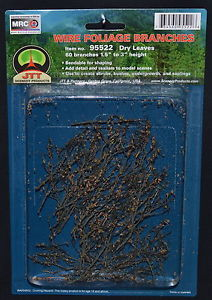 Wire Foliage Branches Dry Leaves (60 per pkg)