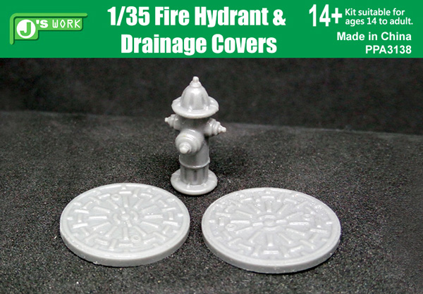 Fire Hydrant and 2 Drainage Covers