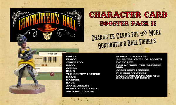 Gunfighters Ball Character Card Booster Pack II