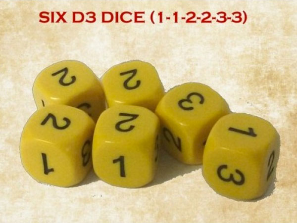 Gunfighters Ball 6-sided D3s x 6