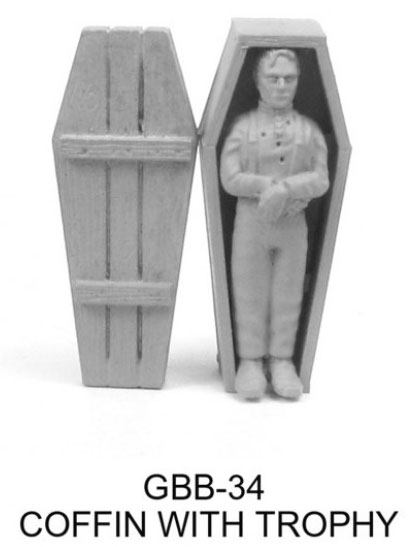 Coffin with Trophy