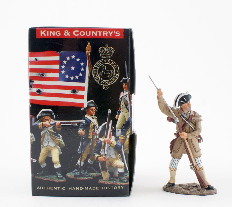 KING & COUNTRY AR055 AMERICAN REVOLUTION COLONIAL MILITIA LOADING 1 AVAILABLE OOP