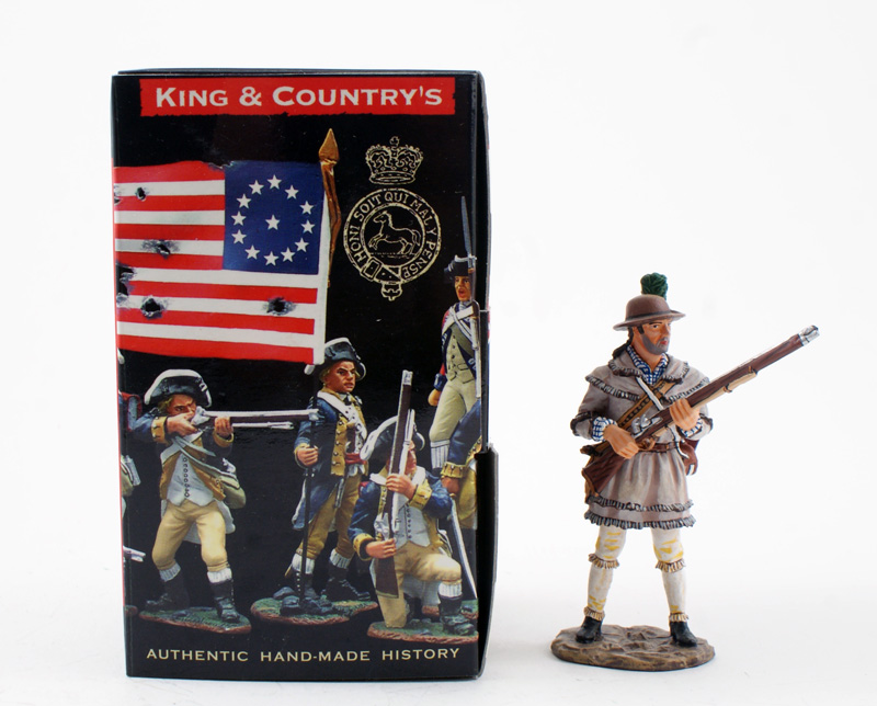 KING & COUNTRY AR053 AMERICAN REVOLUTION COLONIAL MILITIA AT READY 1 AVAILABLE OOP