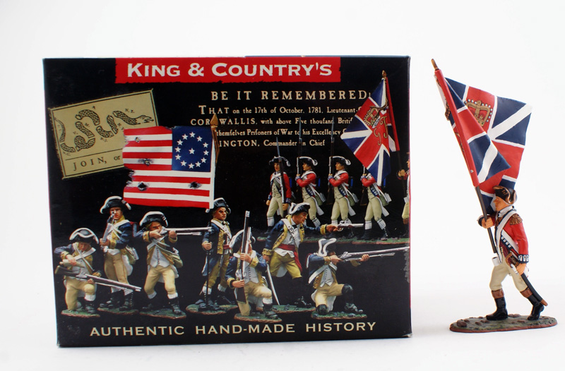 KING & COUNTRY BR035 AMERICAN REVOLUTION BRITISH FLAG BEARER 1 AVAILABLE OOP