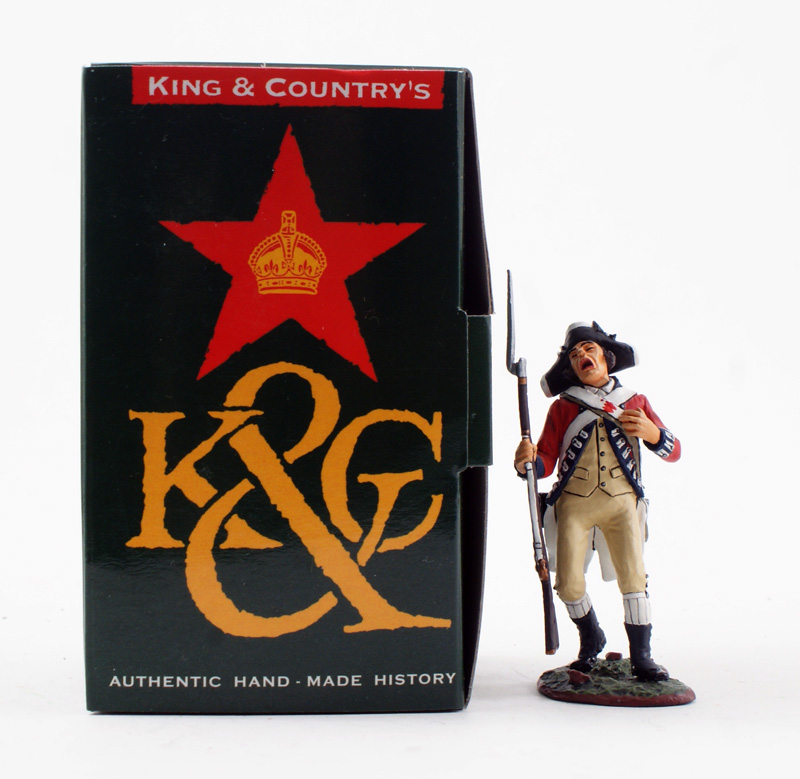 KING & COUNTRY BR050 AMERICAN REVOLUTION BRITISH SHOT 1 AVAILABLE OOP