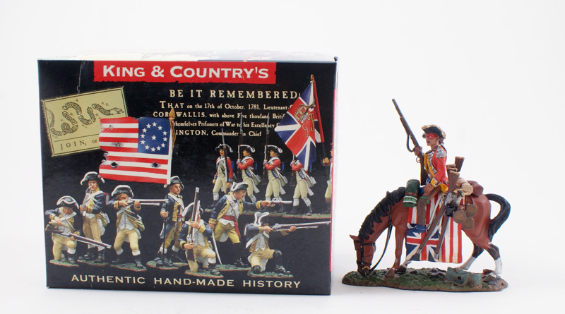 KING & COUNTRY BR051 AMERICAN REVOLUTION INDIAN WITH WAR TROPHIES 1 AVAILABLE OOP