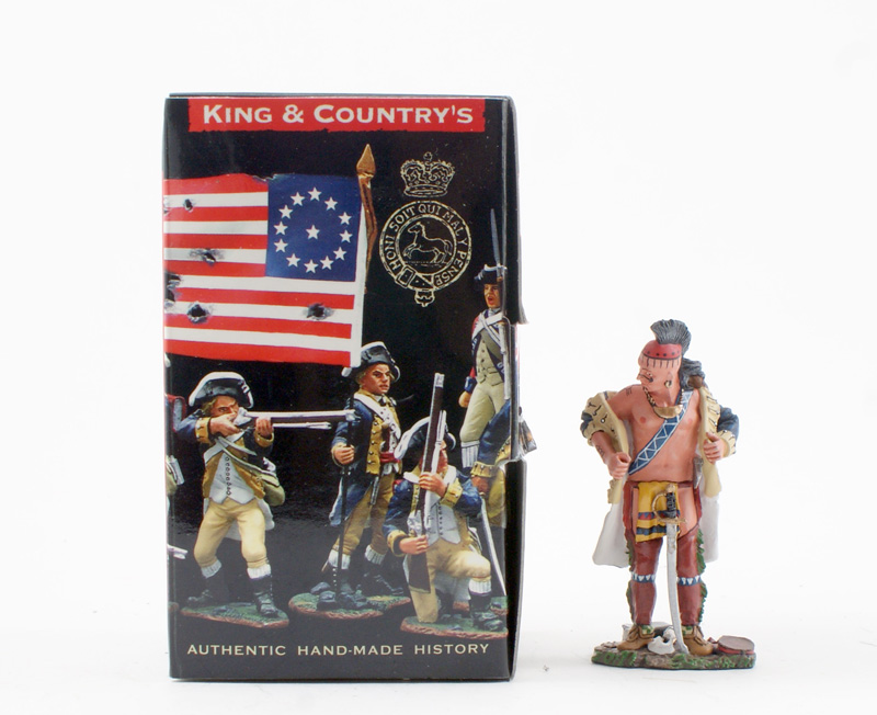 KING & COUNTRY BR052 AMERICAN REVOLUTION INDIAN WITH COLONIAL JACKET 1 AVAILABLE OOP