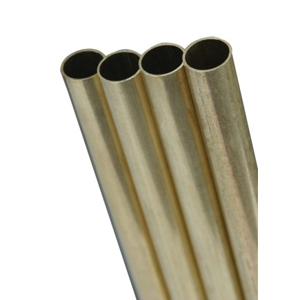 9/16x12 Round Brass Tube .014 Wall (1)