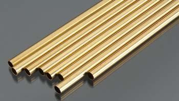 Round Brass Tube .014 Wall - 21/32x12 - 1 pc
