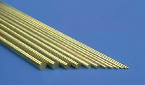 Solid Brass Rod .081 x 12 - 3 pcs.