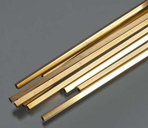 Square Brass Tube .014 Wall - 5/32 x 12- 1 pc.