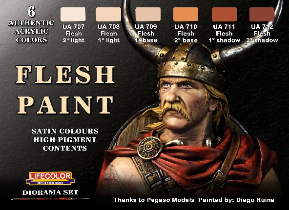 Flesh Tone Acrylic Paint Set