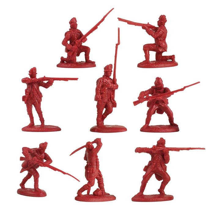 Revolutionary War British Light Infantry Playset
