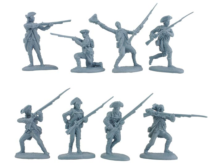 Revolutionary War American Regular Army Playset