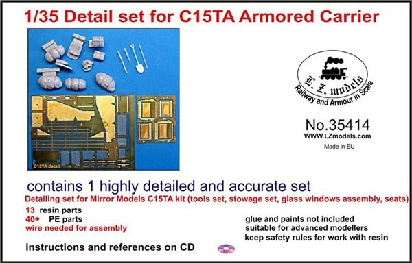 C15TA Armored Carrier Detail Set for Mirror Models (Resin)