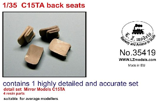 C15TA Back Seats for Mirror Models (Resin)