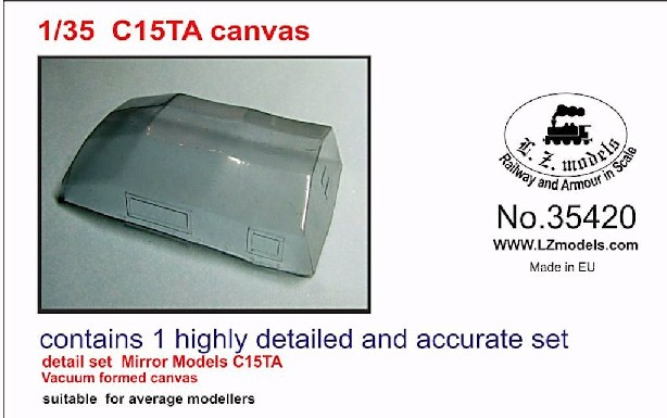 C15A Canvas Top for Mirror Models (Vacu-Formed)