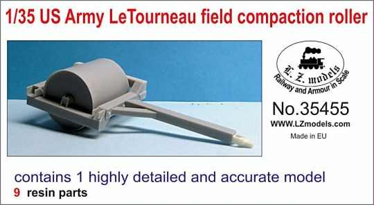 US Army Letourneau Field Compaction Roller for MNA & LZM (Resin)