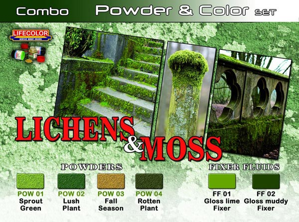 Lichens & Moss Powder & Color Set