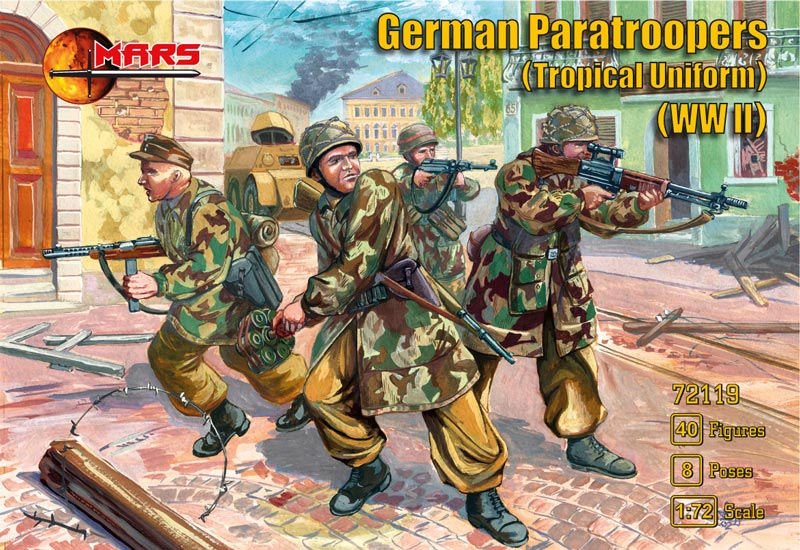 WWII German Paratroopers in Tropical Uniform