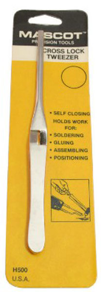 Cross Lock Tweezers 6-1/2