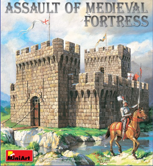 Assault of Medieval Fortress w/Figures
