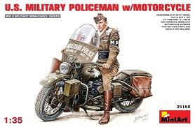 US Military Policeman w/Motorcycle