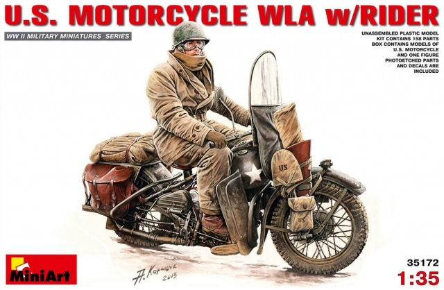 US Motorcycle WLA w/Rider