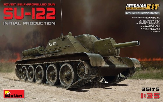 Soviet Su122 Initial Production Self-Propelled Tank w/Full Interior (New Tool)
