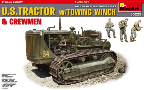 US Army Tractor w/Towing Winch & 3/Crew