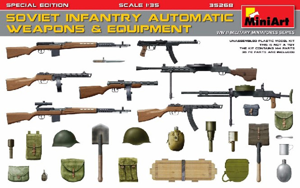 WWII Soviet Infantry Automatic Weapons & Equipment
