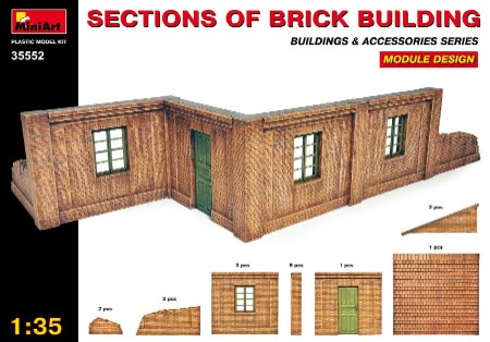 Sections of Brick Building Module Design