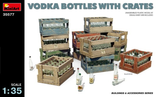Vodka Bottles w/Crates