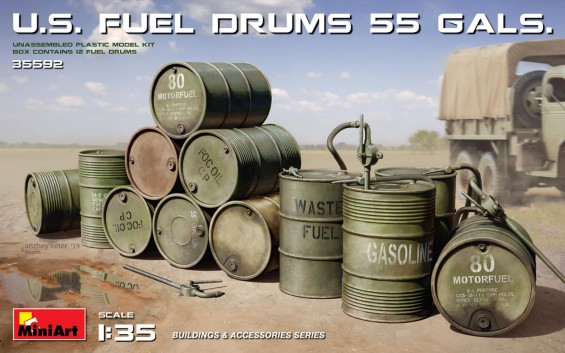 US 55 Gals. Fuel Drums (12)