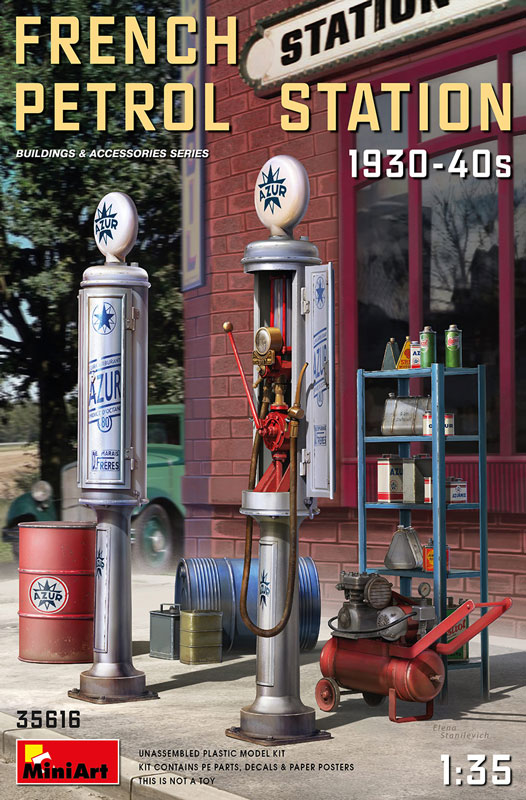 French Petrol Station 1930-40