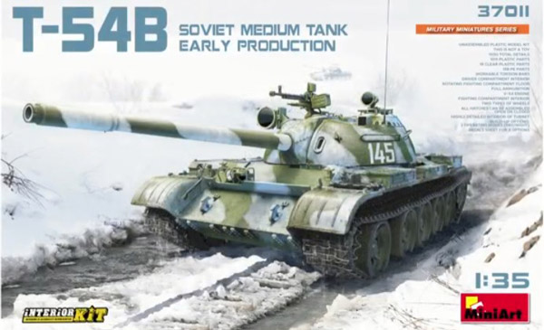 T54B Soviet Medium Early Production Tank w/Full Interior