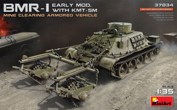 BMR1 Early Mod w/KMT5M Mine Clearing Armored Vehicle
