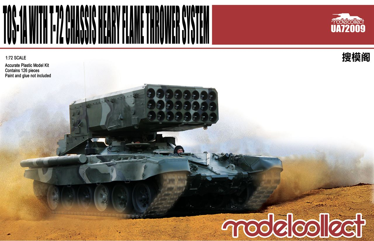 TOS-1A with T-72 Chassis Heavy Flame Thrower (Multiple Rocket Launcher) System