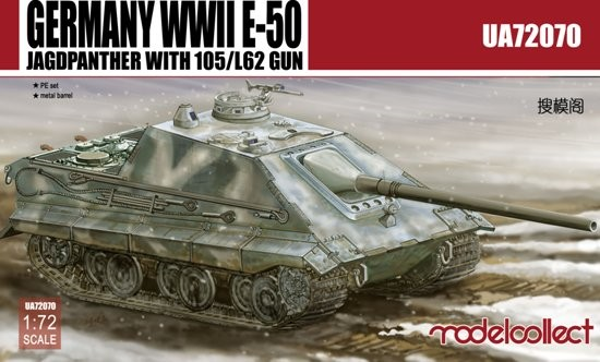 WWII German E50 Jagdpanther w/105/L62 Gun (Model Kit)