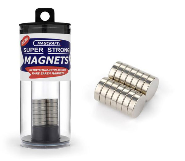 1/2in x 1/8in Rare Earth Disc Magnets (14)