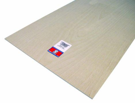 Craft Plywood, 12 x 24 x 0.125 Inches